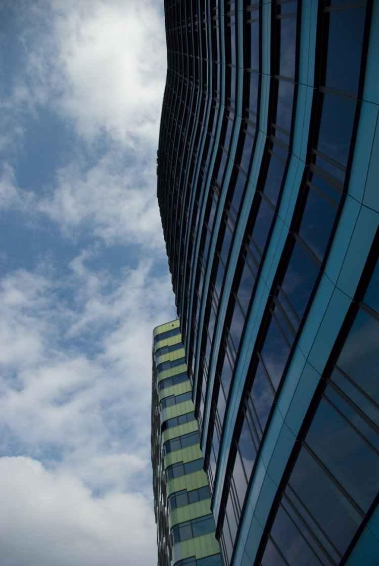 architecture blue building business